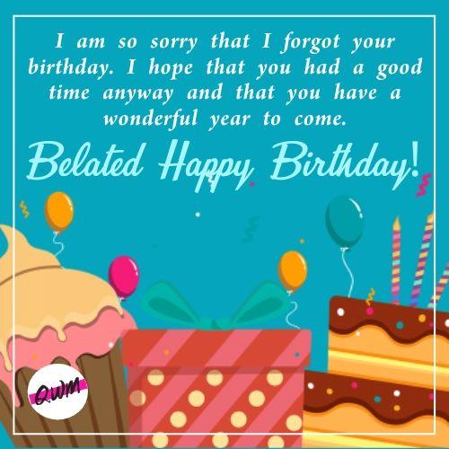 Belated Happy Birthday Greetings