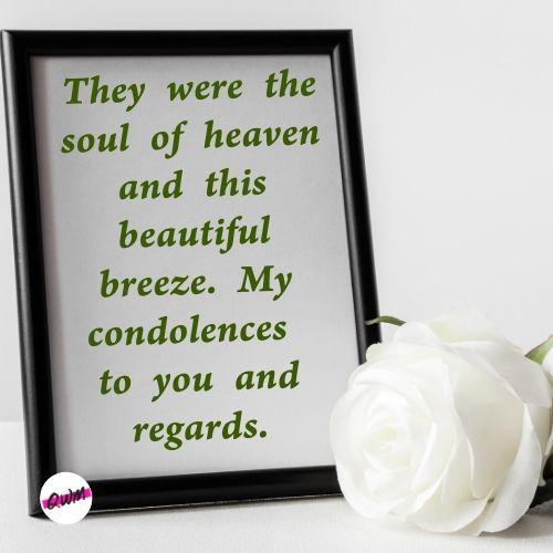 condolence message on death