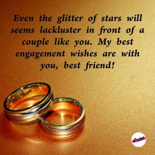 Engagement Messages for Best Friend