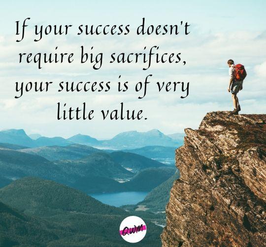 Motivational Sacrifice Quotes