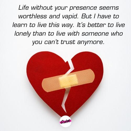 Heart Break Messages for Boyfriend