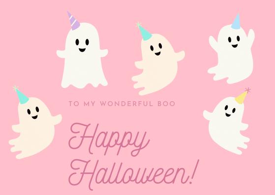 To my wonderful boo, Happy Halloween