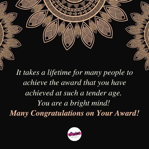 Congratulation Messages on Award