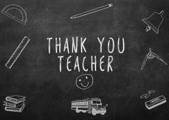 Thank You Notes For Teacher Appreciation