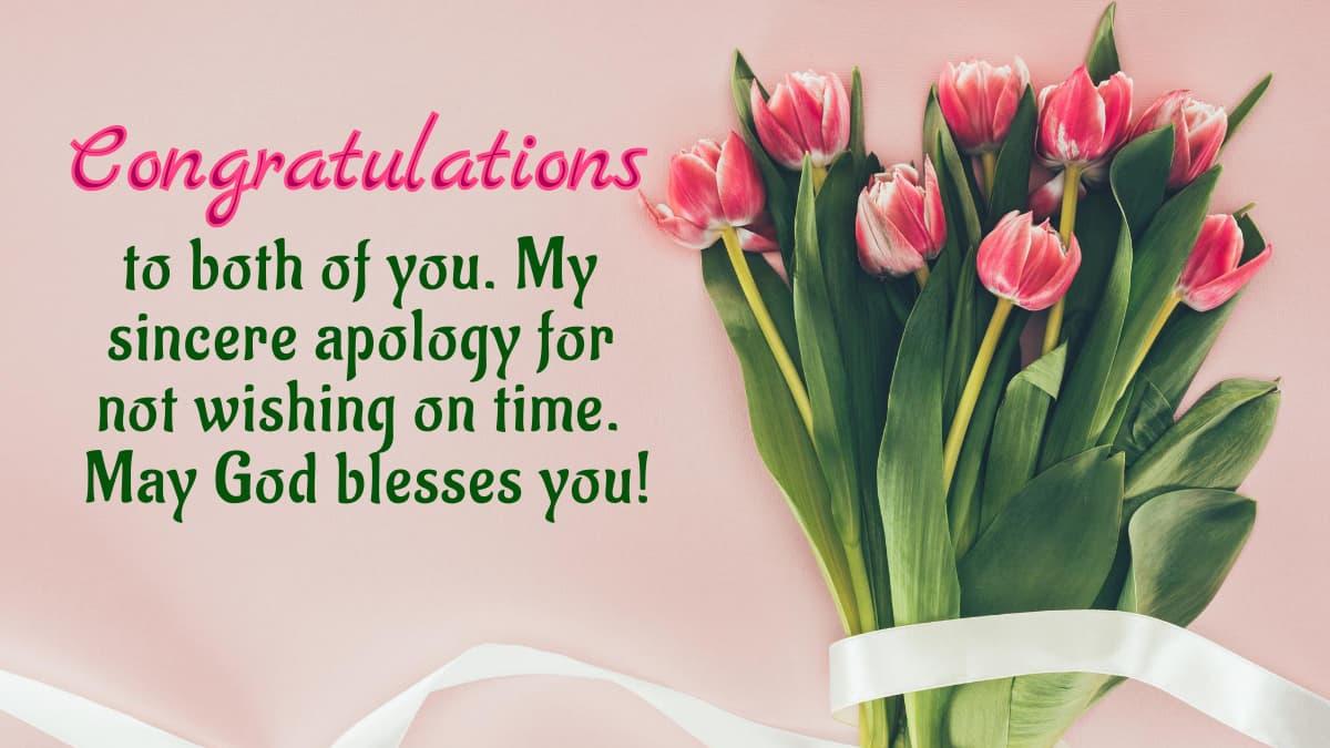 Belated Wedding Wishes Images | Belated Wedding Congratulations