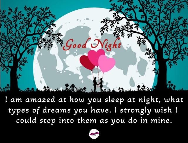 Romantic Good Night Love Wishes